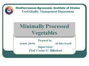 minimally proccessed vegatable